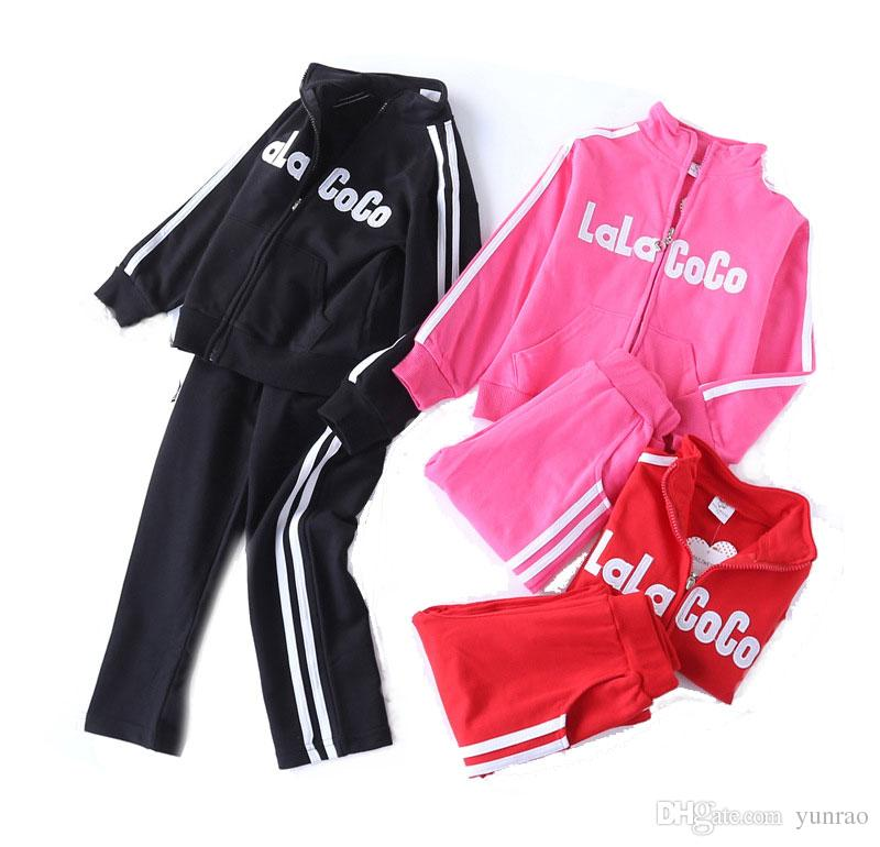 ccc17a633 2019 Boys Clothes Girls Clothing Children Tracksuit Kids Designer Clothes  Boys Sports Casual Suit LaLaCoCo Red Black 4 14T From Yunrao, $15.58 |  DHgate.Com