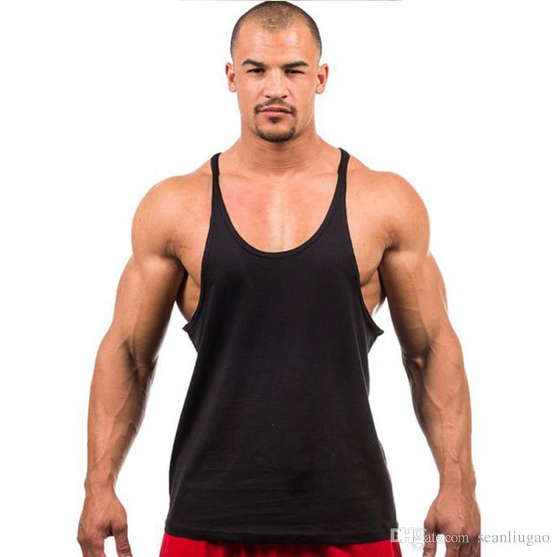 Homme Singlet Chemise 2019 Marque Débardeur Manches Séance Stringer Fitness Sans Bodybuilding Hommes D Sous Entraînement 1cFKTlJ