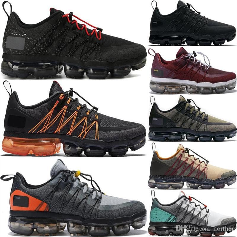 12e6a83c15de Run Utility 2019 Running Shoes Men Triple White Black Reflective Medium  Olive Burgundy Crush Fashion Designer Trainers Sport Sneakers 40-45  Basketball Shoes ...