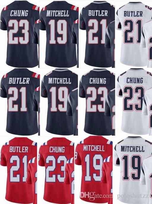 hot sale online 4b317 1e297 custom men/youth/women #19 Malcolm Mitchell 21 Malcolm Butler 23 Patrick  Chung Vapor Untouchable Limited/rush/elite jerseys
