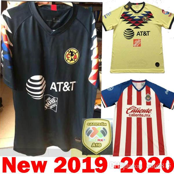 414ec12fb 2019 DHL Shipping 2020 Mexico Liga MX CHIVAS Guadalajara Club America UNAM  TIGRES 2019 Soccer Jerseys 19 20 Cruz Azul Third Away Football Shirts From  ...