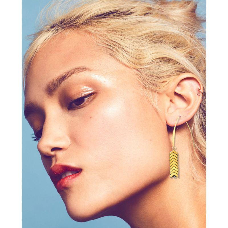 Retro Style Love Arrow Long Pattern Dangle Earrings Natural Gem Mine  Creative Texture Arrow Earrings 8 Factory Price Free Shipping KKA6146