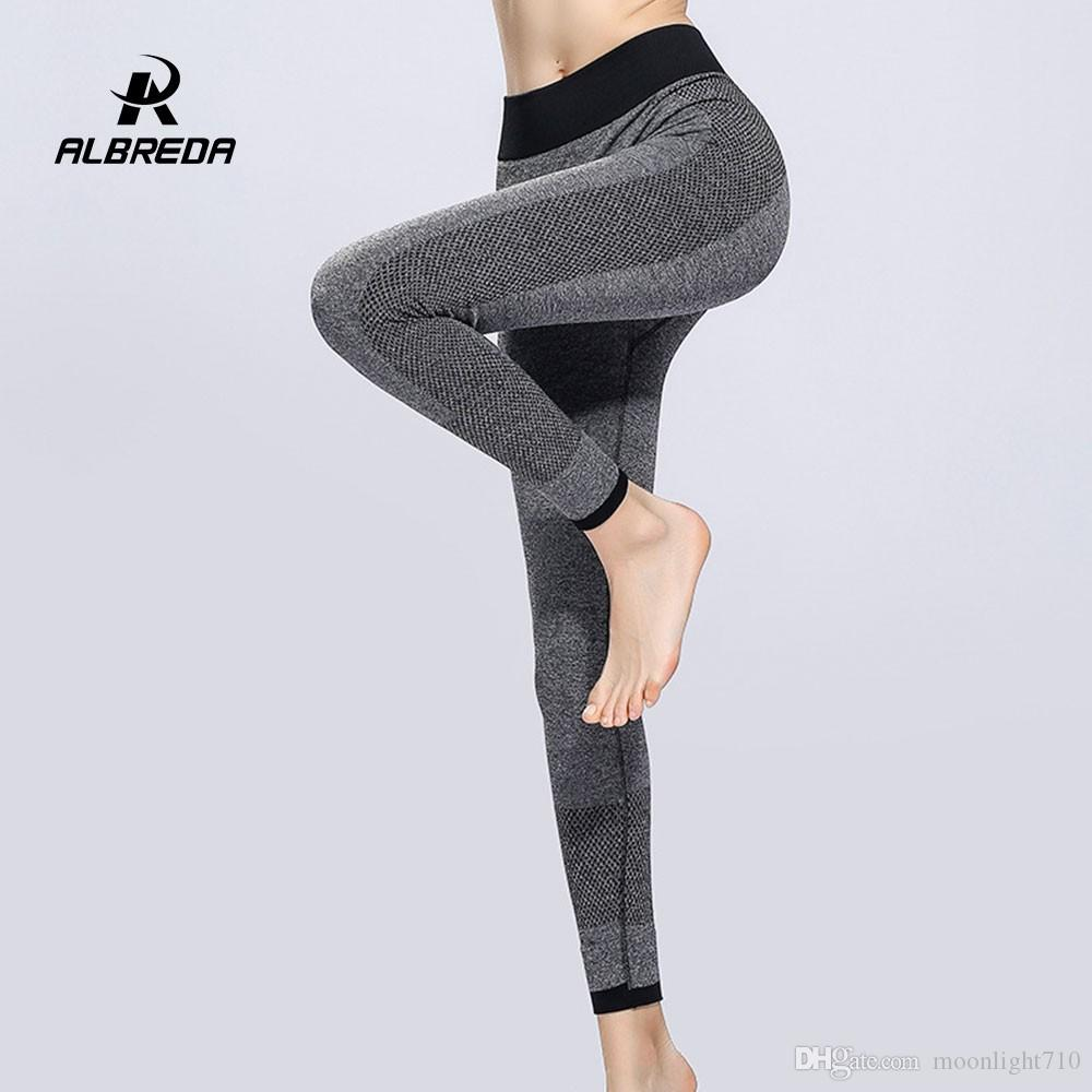 1a7d2c550f930 ALBREDA Women Elastic High Waist Yoga Pants Fitness Bodybuilding Lady Yoga  Sport Leggings Running Trousers Quick Dry Tights Pant Yoga Pants Online  with ...
