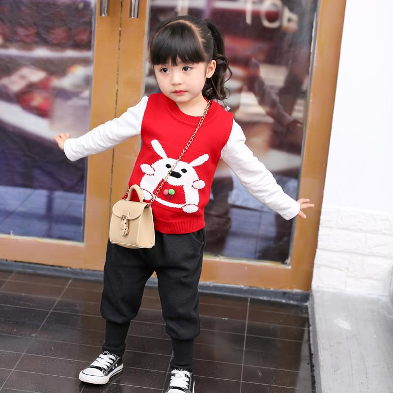 0-4 years High quality boy girl clothing set 2019 new spring sport casual kid suit children baby clothing vest+T-shirt+pant 3pcs
