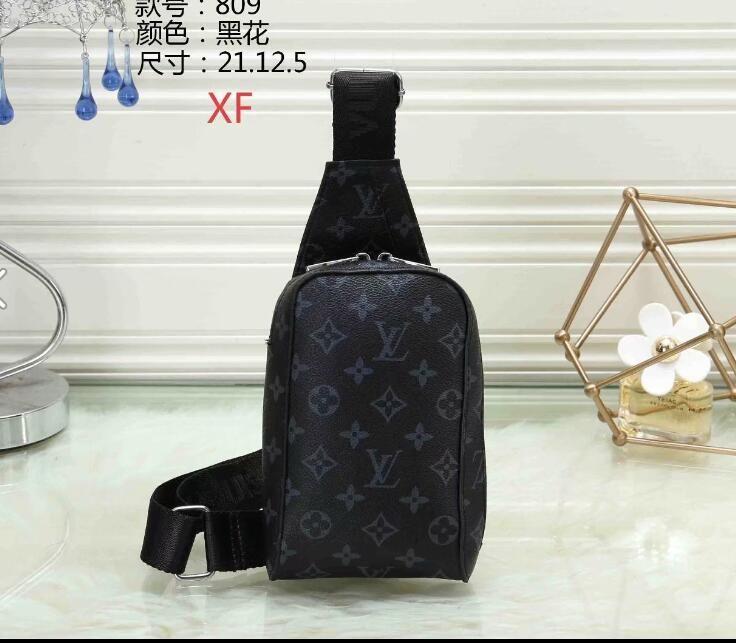 3abcd46f90 2019 Louis Vuitton New Men's Brassiere Slant Single Shoulder Brassiere  Front Bag Leisure Bag Small Backpack Men's Trendy Bag A1205