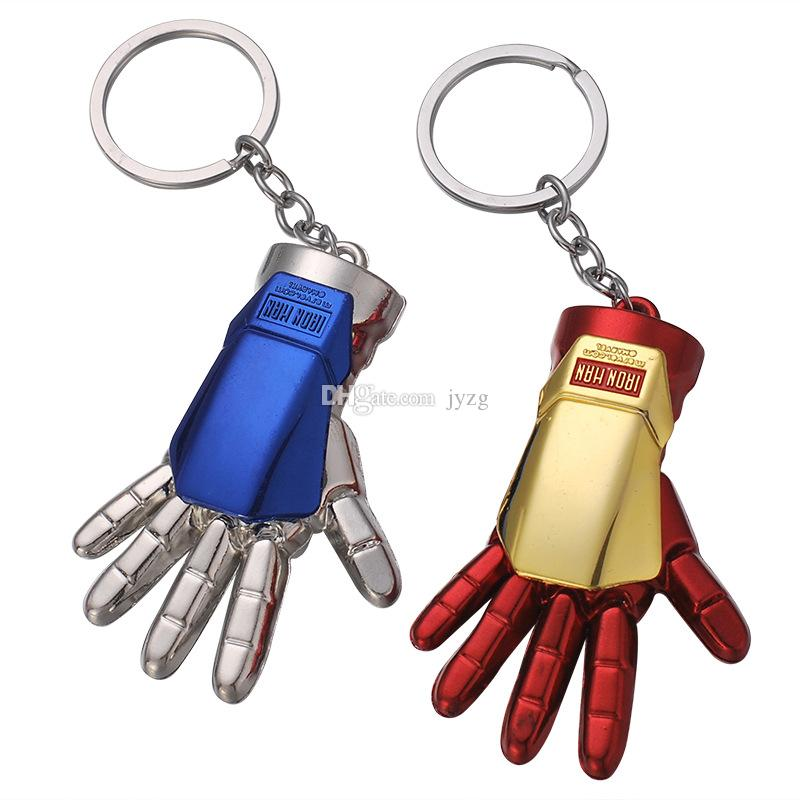 The Avengers Iron Man palm key chain Keychain Car Key Holder Acrylic Bell Anime Key Chain Bag Pendant Bts Accessories Girl Gift