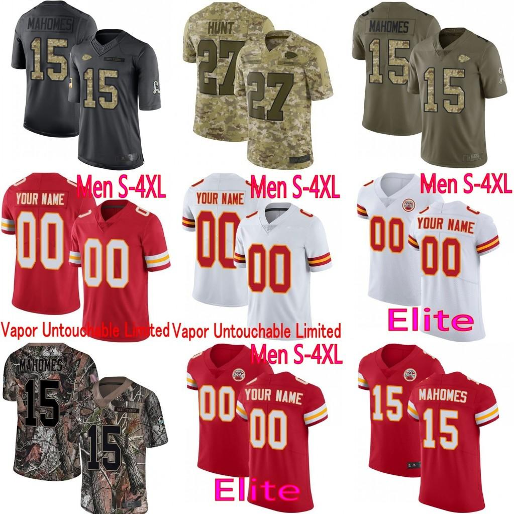 purchase cheap 20ad4 d187d CUSTOM Mens Women Youth Kansas City Patrick Mahomes Tyreek Hill Hunt Travis  Kelce Vapor Elite Camo Salute to Service Limited Chiefs Jersey