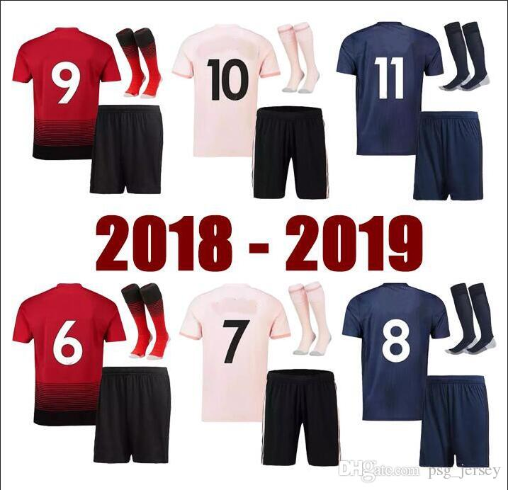 999800316 New 2018 19 Adult Kit Thailand POGBA Soccer Jersey TOP Football ...