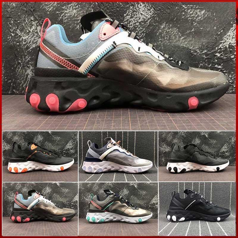 Chill Epic Chaussures Bone Element Nike Solar 87 Undercover 2019 Light React Hommes Course Blue De Voile Noir Anthracite HWE2DI9