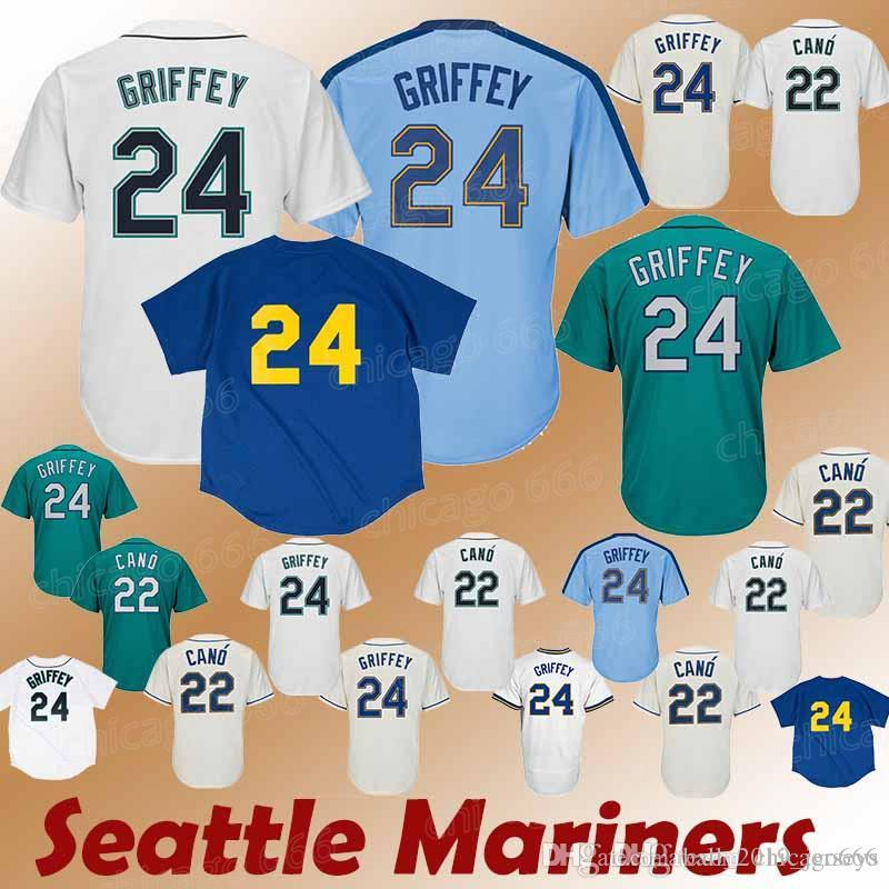 wholesale dealer 45bf5 fe1f6 Mariners jerseys Seattle 22 Robinson Cano Hot sale high-quality moderate  price reliable reputation 2018 new Jersey sportswear