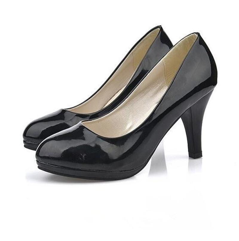 b719241812d 2019 Dress 2018 Summer Pumps Women S Shoes Comfortable Fine With Round Head  Professional Single Shoes Work Black High Heeled Shoes Formal Shoes Cheap  Shoes ...