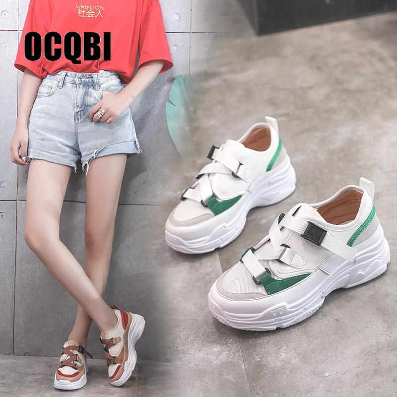 3a5a0a137c982f Women Sneakers 2019 New Spring Fashion Women Casual Shoes Breathable Mesh  Platform Shoes Ladies White Trainers Chaussure Femme Sperry Shoes Silver  Shoes ...