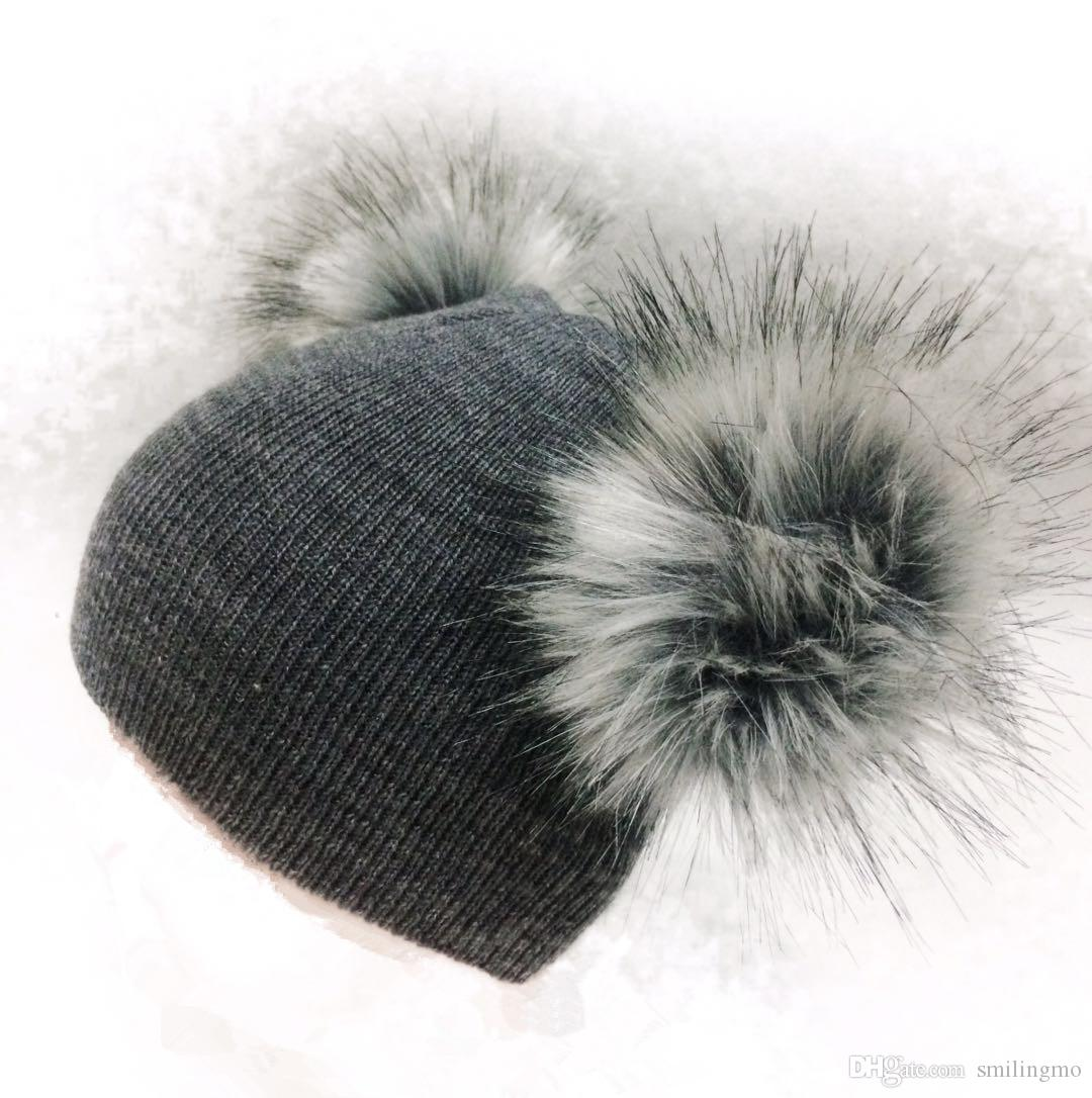 38e83a2ad12 Children s Winter Infant Newborn Baby Kids Faux Fur Wool Hat Cap ...