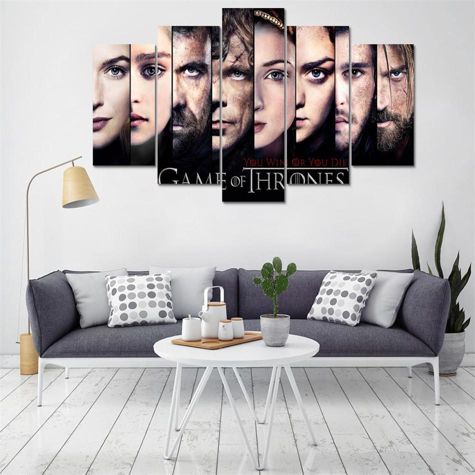 2019 Game Of Thrones Personajes Hd Canvas Printing New Home