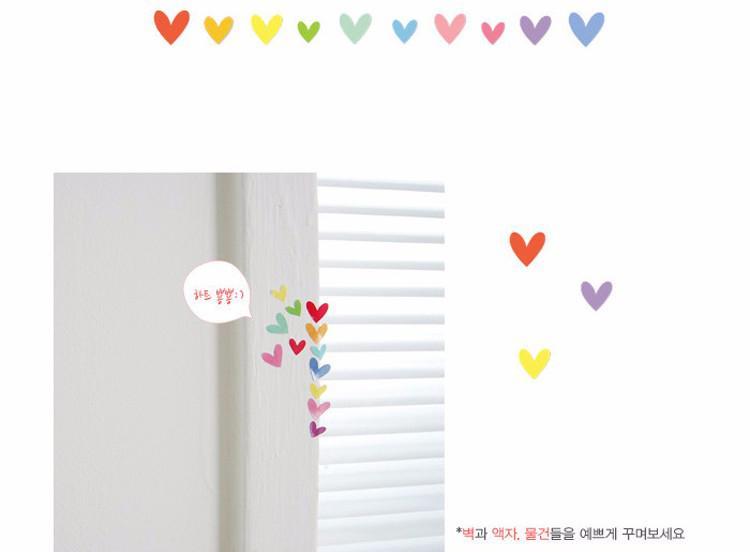 6 pscColorful cute decoration Sticker Post Sticker Paste Photo album Love shape Wall stickers candy color