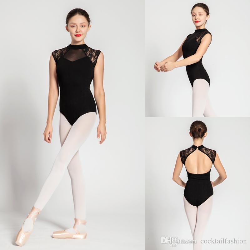 Acheter Ballot Justaucorps Adulte 2018 Noir Sexy Confortable Pratique Danse  Costume Femmes Aérobic Gymnastique Justaucorps Pas Cher Ballet Jupe De   18.1 Du ... e11ce7a7eea