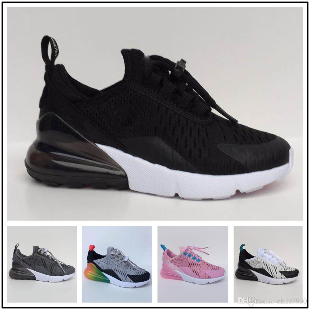 2019 Nike Air Max 270 New Kids Designer Casual Shoes Niños Bebé Niño y niña Entrenadores Zapatillas deportivas Ootdoor Zapatillas para jóvenes