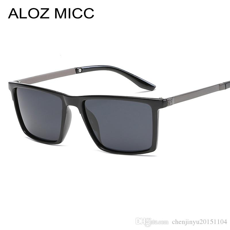 d5d8bc6d90c ALOZ MICC Fashion High Quality Polarized Sunglasses Men Square Brand ...