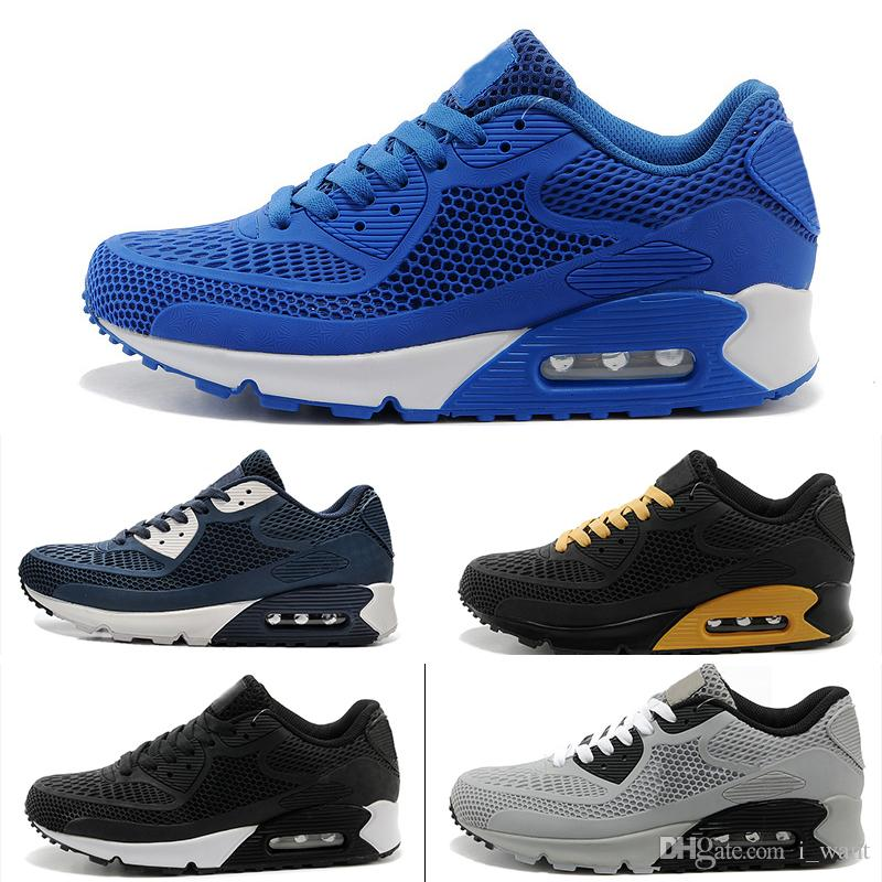 Nike air max 90 2018 Nuevo Cojín KPU Hombres Zapatillas de deporte de alta calidad zapatillas clásicas baratas 10 colores deportivos zapatos casuales