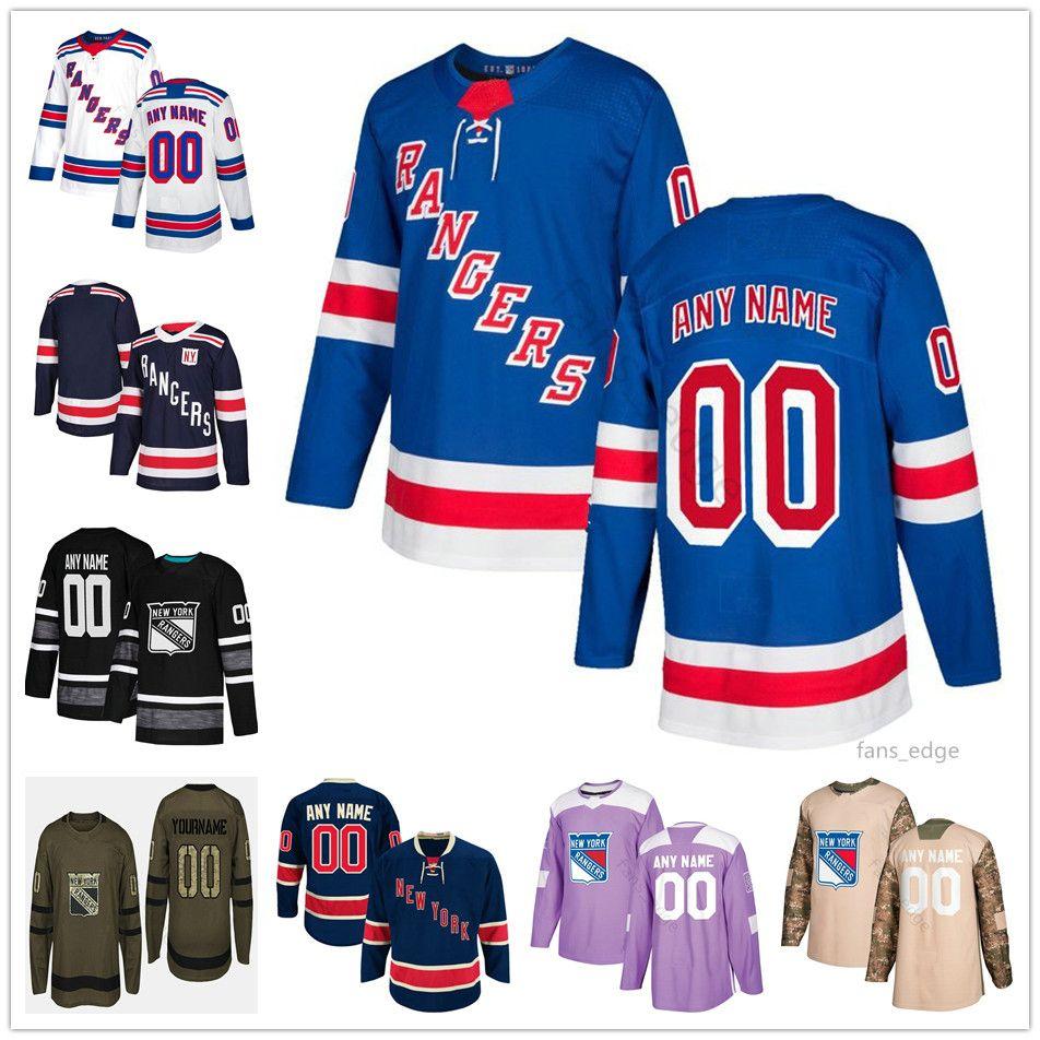best website e2ffa e9b0f Custom New York Rangers #99 Wayne Gretzky 77 Anthony DeAngelo 42 Brendan  Smith 90 Vladislav Namestnikov Men Women Kids Youth Hockey Jerseys
