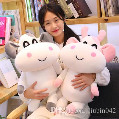 20170621 2019 New Style Creative Cow Stuffed Animal Soft Plush Toy Super Cute Pillow Kids Birthday Gift Free Shipping