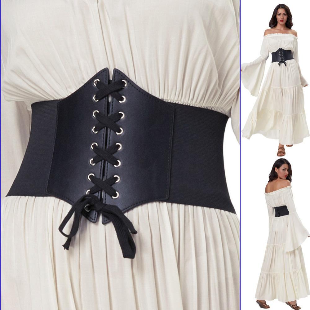44aff3f5 Cinturón de corsé para mujeres cinturón elástico ancho más el tamaño 3XL  mujer negro Cincher elasticidad cinturones de cintura para accesorios ...