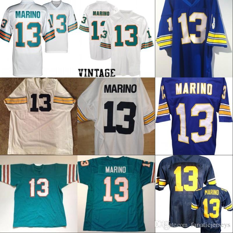 8d6229c5aaa 2019  13 DAN MARINO Jersey Mens Womens Youth 100% Stitched DAN MARINO  Custom College Retro Football Jersey Blue White Green From Fanaticjerseys