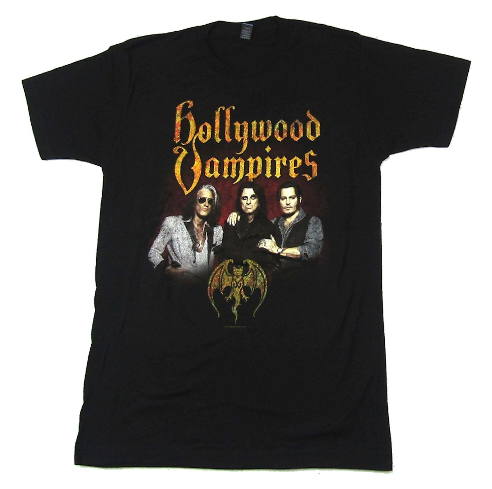 ca18a56eeeff Hollywood Vampires Raise The Dead Tour BALICE IN CHAINS TRI CELL BLACK T  SHIRT NEW OFFICIAL ADULT Men Women Unisex Fashion Tshirt Free Cool Tshirts  Retro T ...