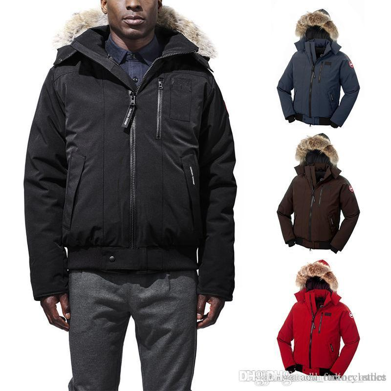 dhl canada classic style down jacket for men new coyote fur middle rh dhgate com