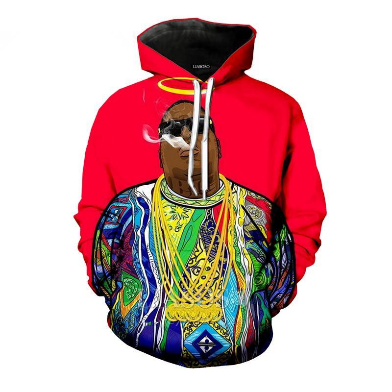 Biggie Smalls Notorious B.I.G Mens Hoodie Hip Hop Rap BIG