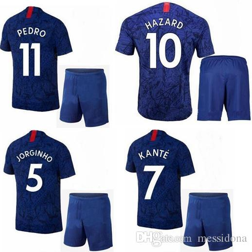 quality design dda26 a6c98 KIDS 2019 2020 HAZARD 10 PULISIC KANTE 7 thailand quality soccer jersey  camisa de futebol football shirt kit camiseta futbol maillot de foot