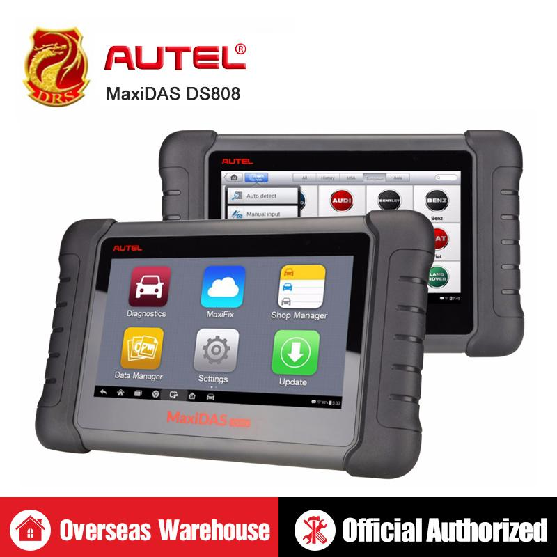 Autel MaxiDAS DS808 Auto Code Reader Diagnostic Tool OBD2 Scanner Scan Tool  same as MaxiSys MS906 Automotive Tools ABS bleeding