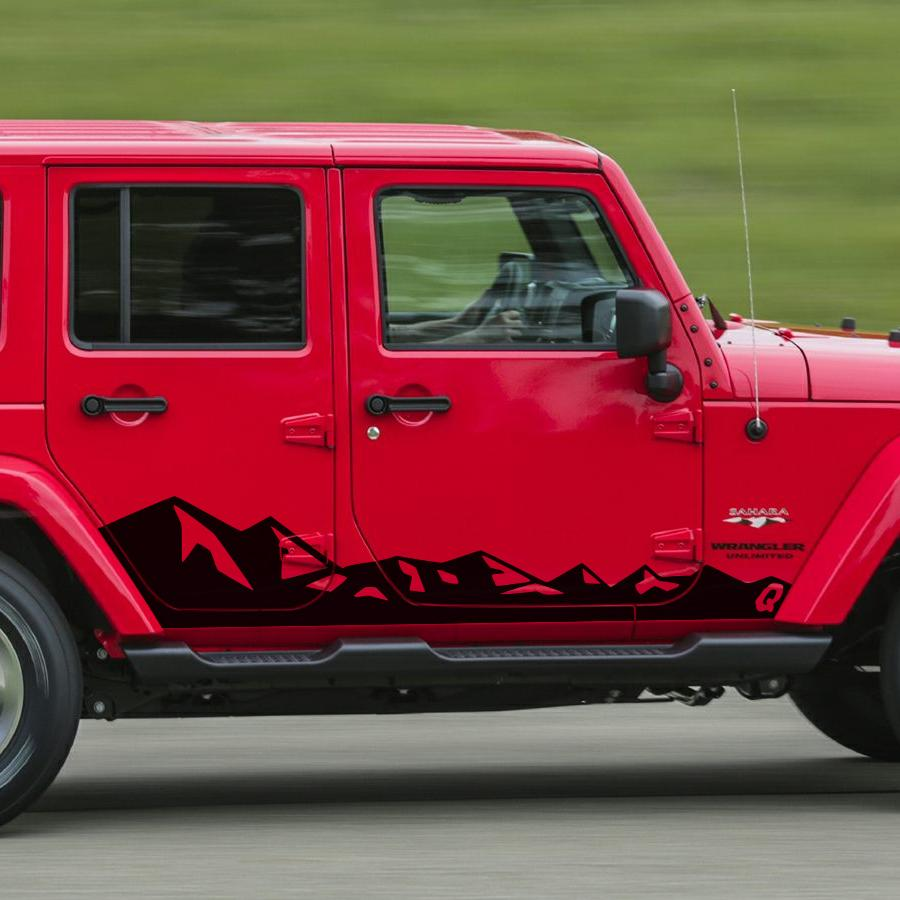 2019 for jeep wrangler rubicon or sahara 4 doors accessories decals2019 for jeep wrangler rubicon or sahara 4 doors accessories decals side door mountains styling graphic vinyls car sticker from zhongfucar, $67 17 dhgate