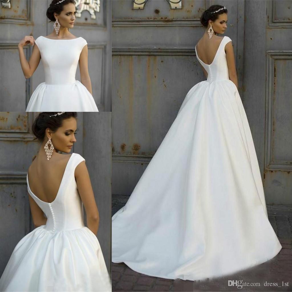 Simple Wedding Dresses Off White