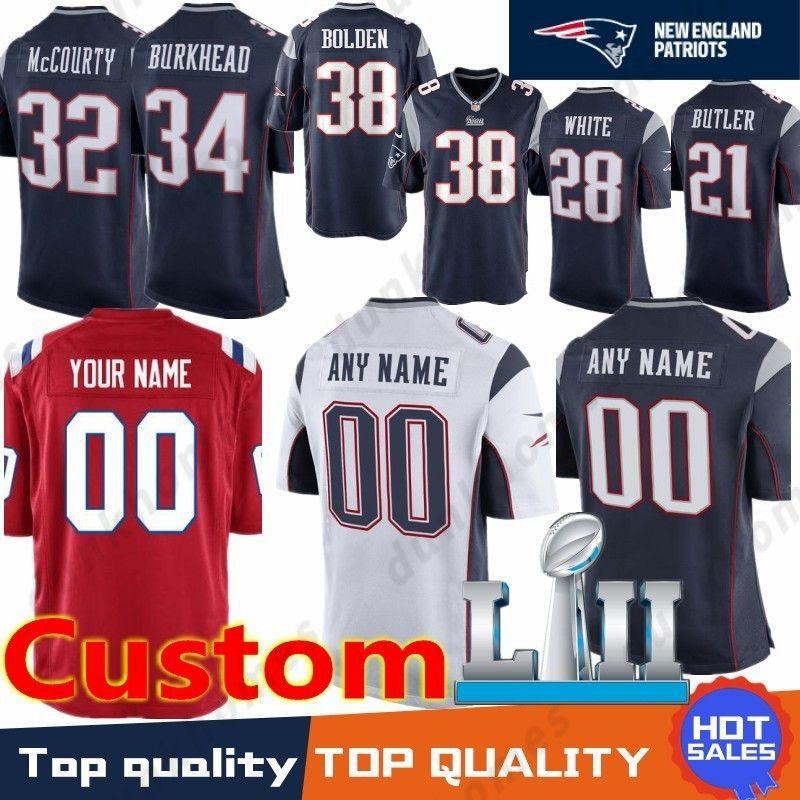 Custom New 35 Mike Gillislee Patriots 28 James White 23 Patrick Chung 80  Danny Amendola 17 Aaron Dobson 88 Martellus Bennett Stitched 35 Mike  Gillislee ... ef209ad35