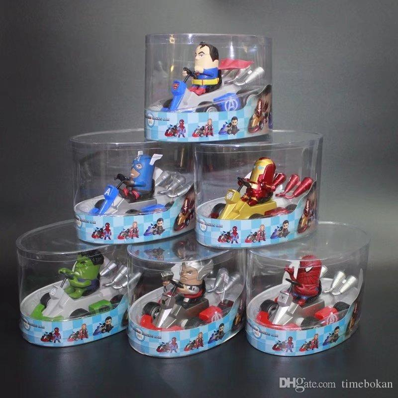 Avengers The Kart Back Jouets Man Thor Iron Spider Voitures Friction Powered Enfants America Figure Hulk Capitaine Pull xrdCeBoW