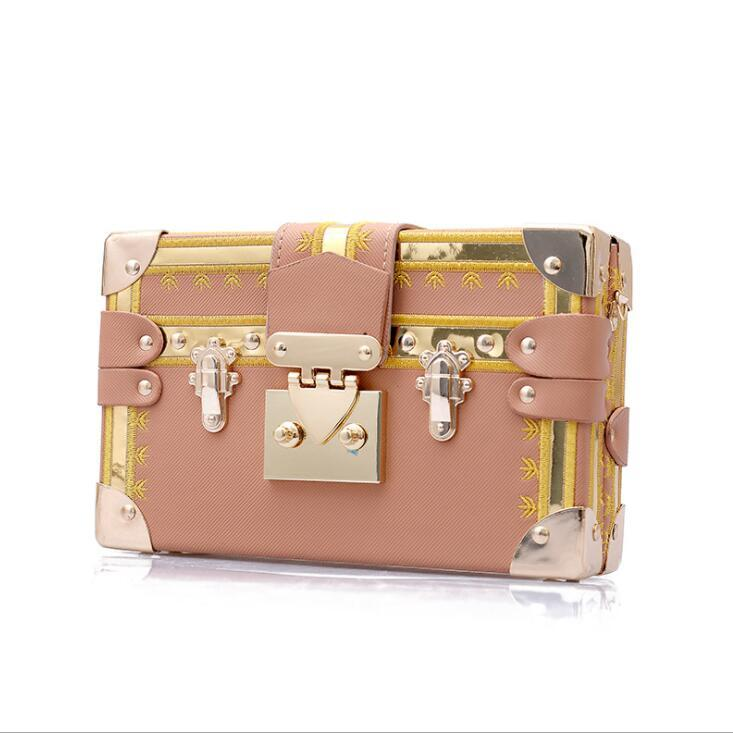 Europe and the United States popular new wave fashion lock buckle small square bag Korean version of the shoulder bag package#002