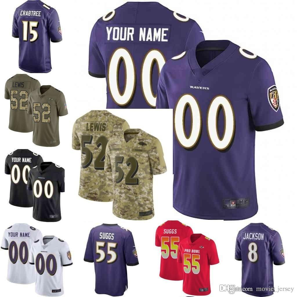 2019 Men Youth Women Baltimore Vapor Untouchable 8 Lamar Jackson 9 Justin  Tucker Custom Ravens Camo Salute To Service Football Jersey From  Movie jersey bd9900c53