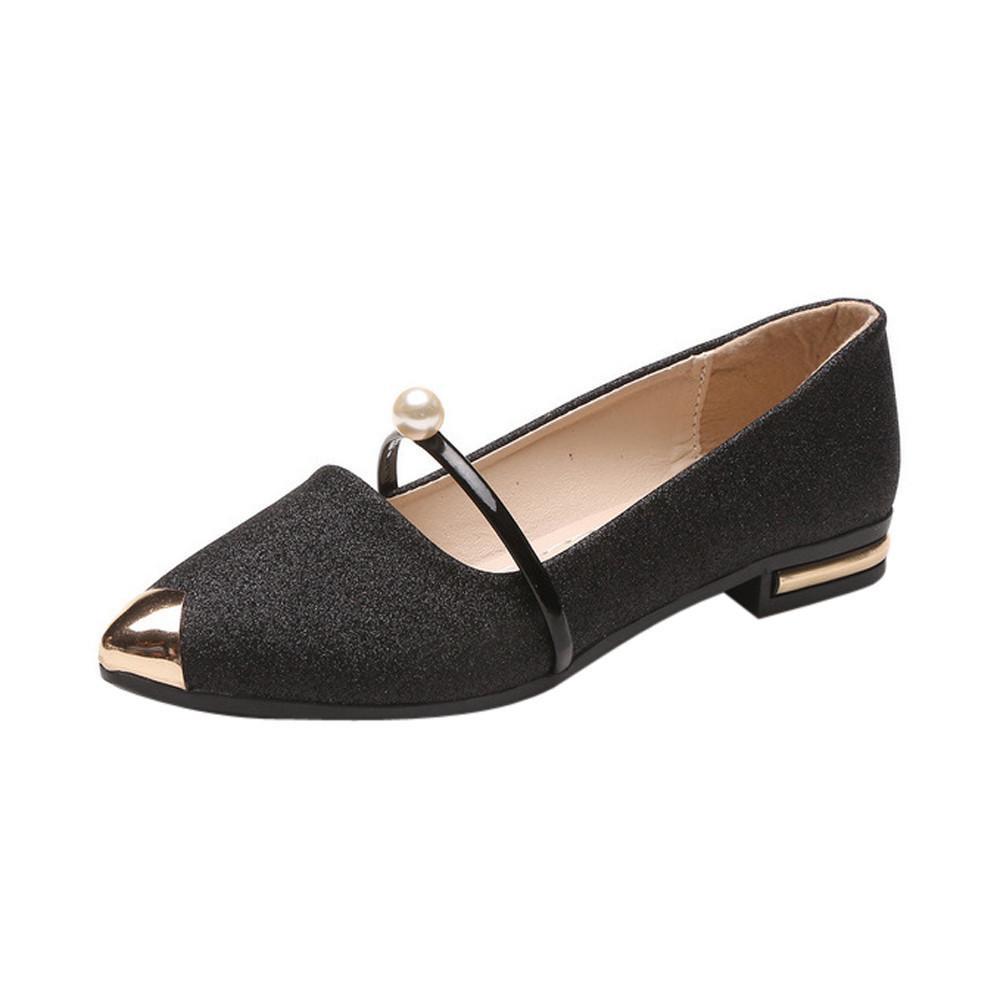 6910edb3 2019 Vestido 2018 Mujeres Punta estrecha Zapatos Ladise Casual zapatos de  tacón bajo zapatos mujer tacon zapatillas mujer verano 2018 zapatos para ...