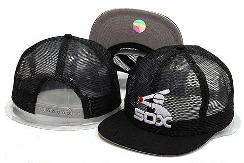 ccd28a8e1aa Hotsale Sport White Sox Baseball Mesh Design Hats Brands Summer Out Door  Mesh Fresh Snapback Hats With Plastic Snapback Closure For Sale Cool Caps  Flat Brim ...