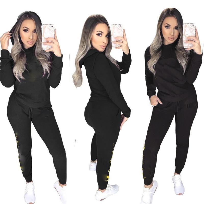 Frauen Designer Trainingsanzug Marke Kleidung Hoodie Hosen Zweiteilige Outfits Plus Größe Frauen Kleidung Frühling Herbst Mode Sweatsuits New