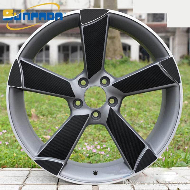 2019 Sunfada Carbon Fiber Vinyl Black 19 Wheel Stickers For Audi A4