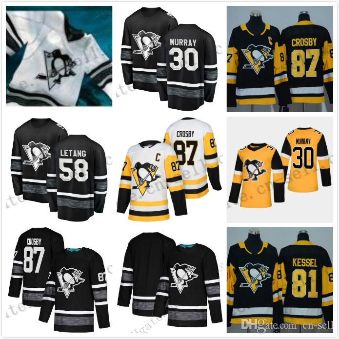 Men Women Youth 2019 All Star Game Jersey Sidney Crosby Evgeni ... 13dffa65d