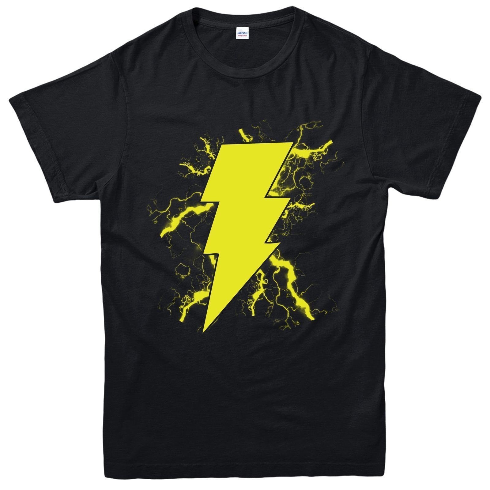 a8e08ad07 Shazam Thunder T Shirt, DC Comics Superhero Captain Marvel Inspired Tee Top  Cool T Shirt Sites White Designer T Shirts From Happytime89, $11.48|  DHgate.Com