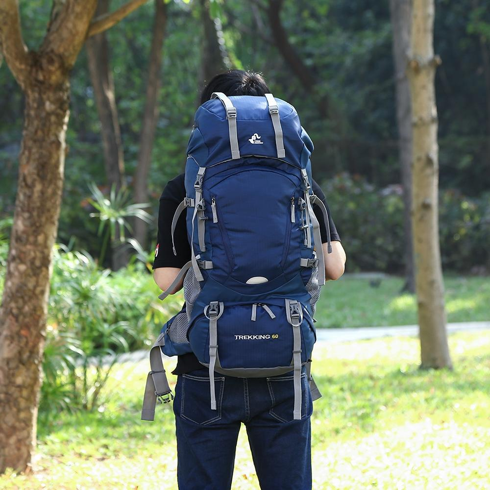 204e67c96ad7 Professional 60L Climb backpack Travel backpacks Trekking Rucksack rain  cover Sport Bag Camp Equipment Hike Gear Men Women High quality
