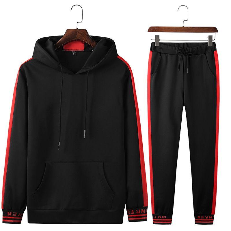 enjoy cheap price outlet store sale beautiful style Mens Designer Tracksuits Fashion Sweat Suits Autumn Mens Jogger Suits  Casual Tops Capris Pants Sets Sporting Suit Hip Hop Sets M-4XL
