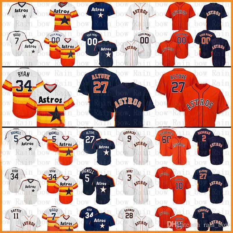 84fd930d38e Houston Astros Baseball Jersey 27 Jose Altuve 35 Justin Verlander 34 ...