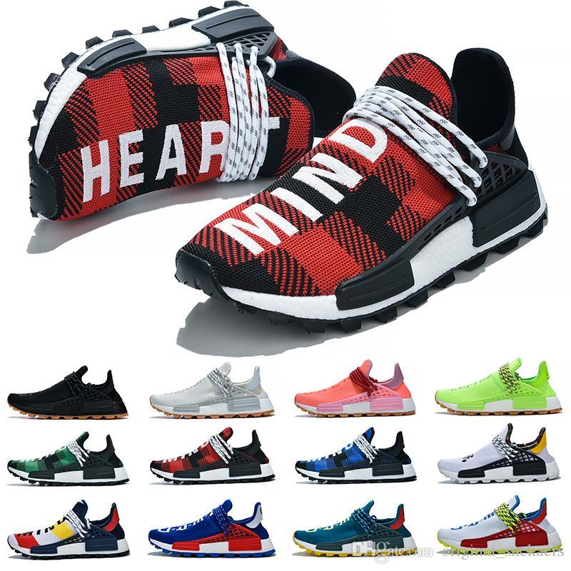 Adidas NMD HUMAN RACE boost chaussures star Pharrell Williams Tie Dye Pack Solaire Mère designer Mode doré chaussures de sport