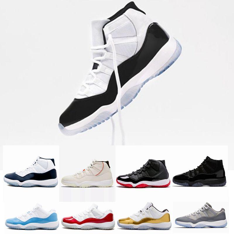 buy online 8498c e8a89 Compre Nike Air Jordan Retro 11 Concord 11 High 45 XI 11s Bred Gorra Y Bata  Gimnasio Chicago Platinum Tint Space Jams Zapatos De Baloncesto Para Hombre  ...
