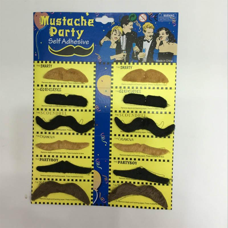 Masquerade Moustache Party Supplies Creative Black Brown Funny Mustache Pirate Birthday Party Decoration Kids Fake Beard